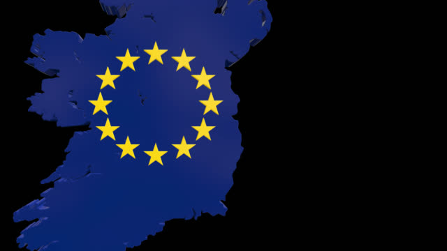 ireland after brexit saved with alpha channel - johnfscott stock videos & royalty-free footage