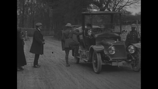 ireland beset by violence and protests, soldiers and black and tans searching civilians for weapons. eamon de valera leads a delegation to london to... - 1921 stock videos & royalty-free footage