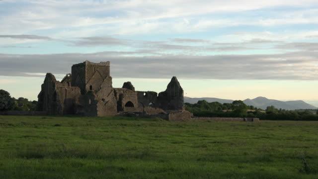 Ireland Cashel Hore Abbey ruin in evening with interesting sky