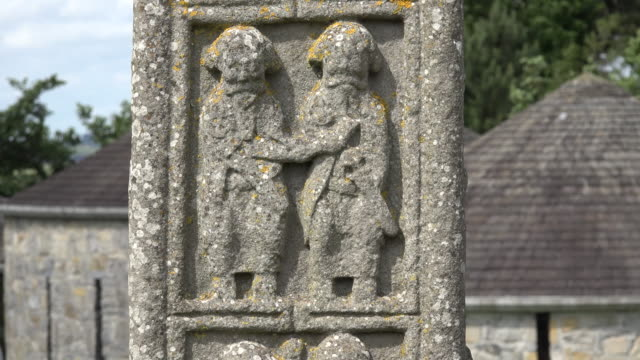 Ireland Clonmacnoise carved figures on a high cross