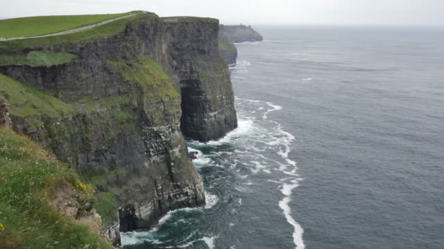 Ireland County Clare Cliffs of Moher a dramatic view