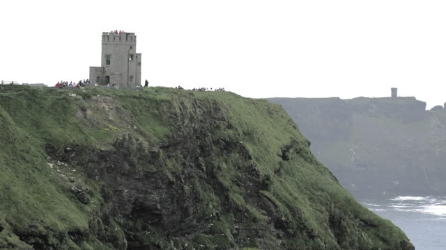 Ireland County Clare Cliffs of Moher tower standing on cliffs