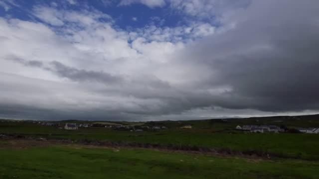 Ireland County Clare dark clouds over Doolin