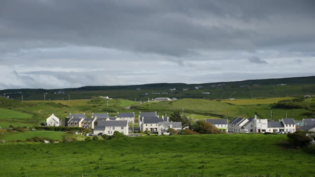 ireland county clare doolin village sun and shadow - village stock videos & royalty-free footage