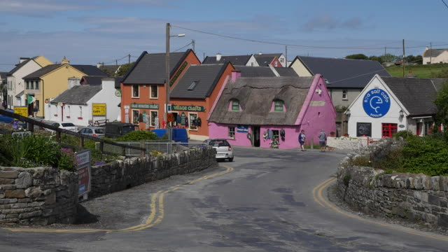 ireland county clare doolin village - doolin stock videos & royalty-free footage