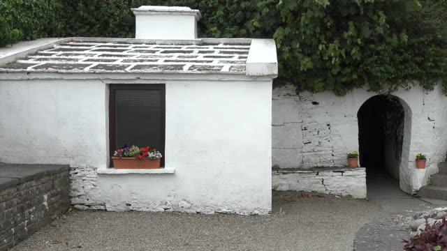 Ireland County Clare entry to St Brigids Holy Well pan