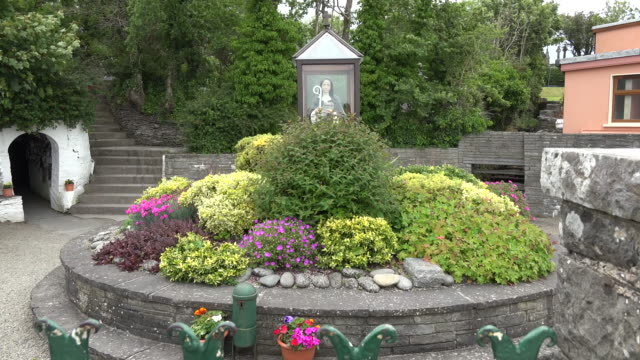Ireland County Clare garden at St Brigids Holy Well