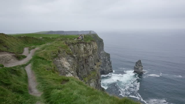 Ireland County Clare path along Cliffs of Moher