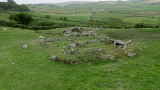 ireland county cork drombeg ancient hearth site - county cork stock videos & royalty-free footage