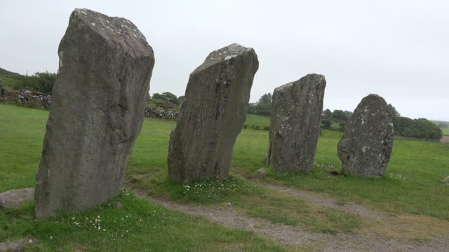 Ireland County Cork Drombeg stone circle with four stones