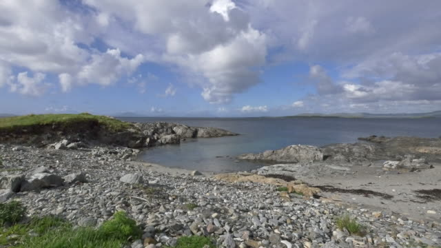 ireland county galway coast at rinvyle low tide - low tide stock videos & royalty-free footage