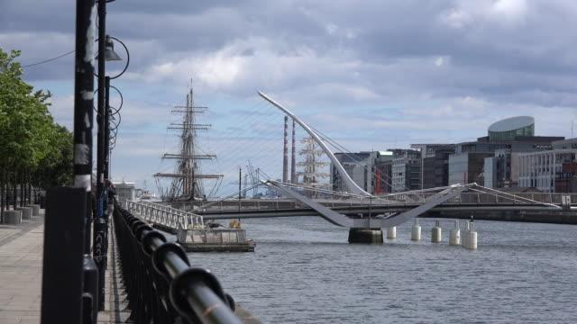 Ireland Dublin bridge shaped like harp