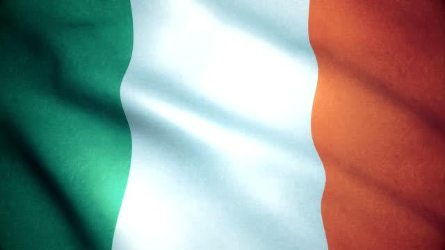 vidéos et rushes de drapeau de l'irlande - irlande