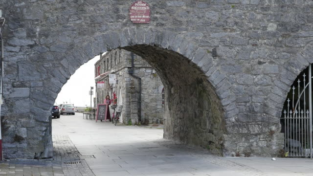 Ireland Galway City looking through the Spanish Arch