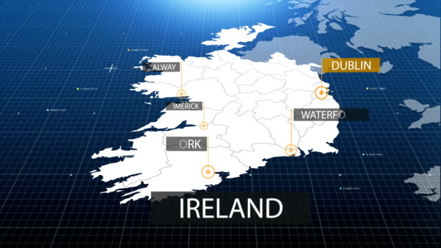 Ireland map with label then with out label