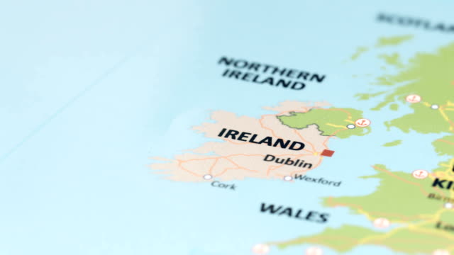 europe ireland on world map - northern ireland stock videos & royalty-free footage