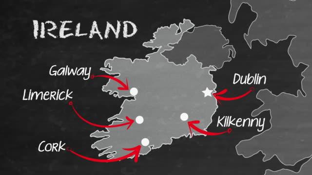 ireland sketch map - north rhine westphalia stock videos & royalty-free footage