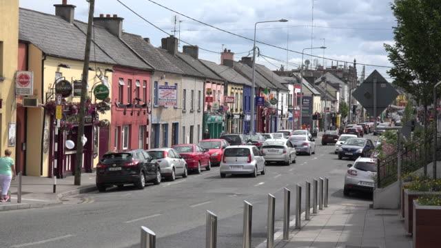 Ireland Tullamore street scene with cars