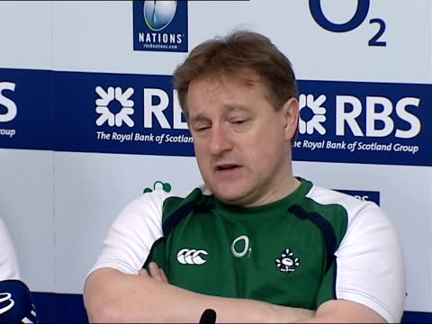 ireland v england bloody sunday commemoration int brian ashton press conference sot feel honoured to play here along with the irish side eddie... - national team stock videos & royalty-free footage