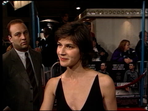 vidéos et rushes de irene jacob at the 'us marshals' premiere at fox westwood village in los angeles california on march 4 1998 - westwood village