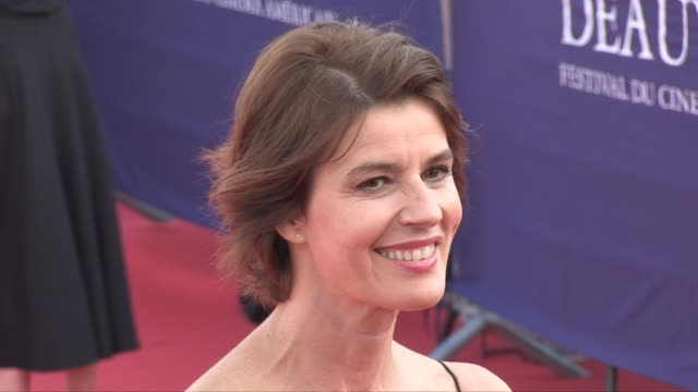 Irene Jacob on the red carpet of the opening ceremony of the 2018 Deauville film festival to receive an all achievement award for his career...