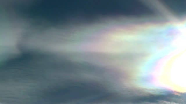 iridescence in cloud, timelapse - pearl stock videos and b-roll footage