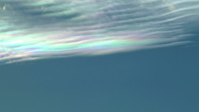 Iridescence in rippling cloud, timelapse