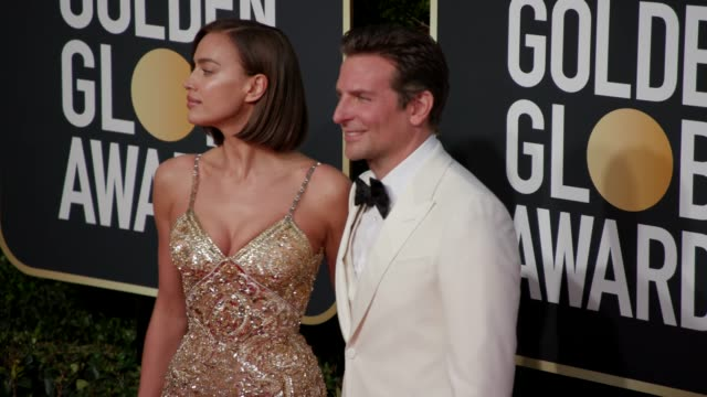 Irina Shayk and Bradley Cooper at the 76th Annual Golden Globe Awards Arrivals 4K Footage at The Beverly Hilton Hotel on January 06 2019 in Beverly...