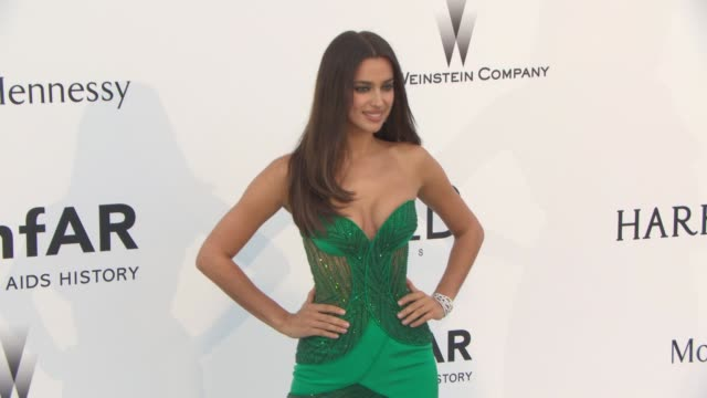 irina shayk at amfar 22nd cinema against aids gala, presented by bold films and harry winston at hotel du cap-eden-roc on may 21, 2015 in cap... - amfar stock videos & royalty-free footage