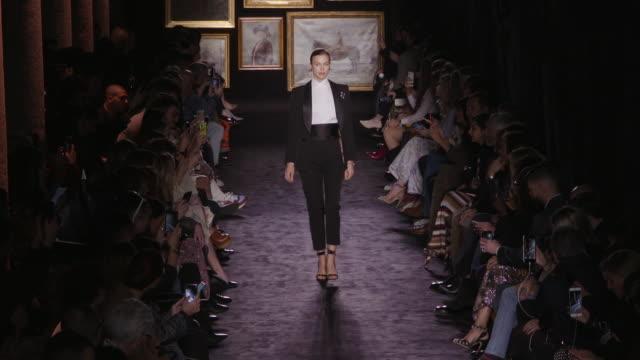 irina shayk at milan fashion week women's fall / winter 2020 - 2021 - etro on february 21, 2020 in milan, . - milan fashion week stock videos & royalty-free footage