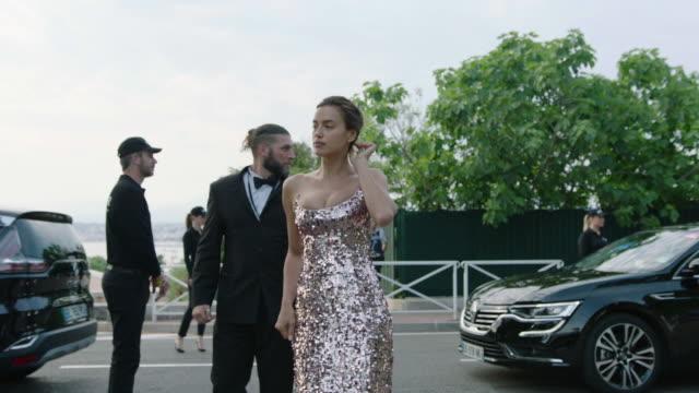 irina shayk, doutzen kroes at amfar gala cannes 2017 at hotel du cap-eden-roc on may 25, 2017 in cap d'antibes, france. - gala stock videos & royalty-free footage