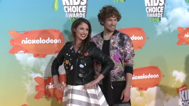 Iris Hesseling and Bart Boonstra at Nickelodeon's 2016 Kids' Choice Awards at The Forum on March 12 2016 in Inglewood California