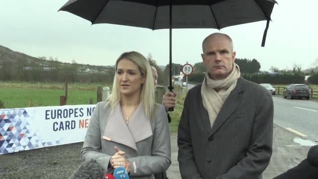 irish european affairs minister helen mcentee and dutch foreign minister stef blok visit the ireland northern ireland border to discuss uk plans to... - governmental occupation stock videos & royalty-free footage