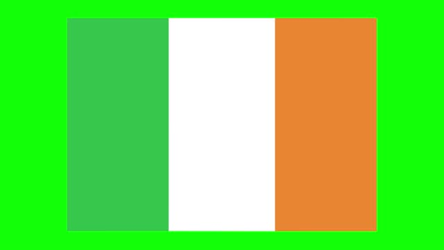 irish flag animation on green screen background, chroma key, loopable - politics icon stock videos & royalty-free footage