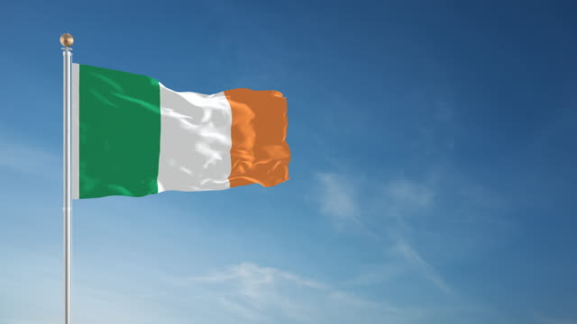 4k irish flag - loopable - national flag stock videos & royalty-free footage