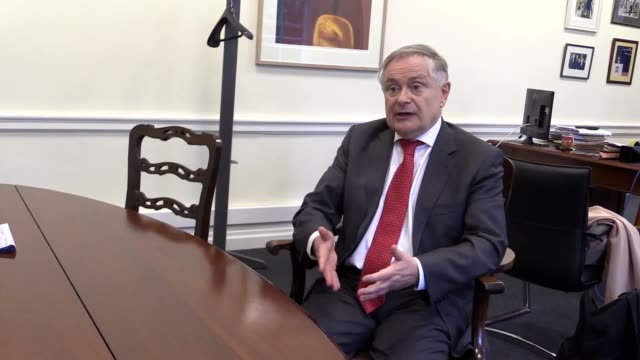 irish labour party leader brendan howlin discusses the de-selected fine gael candidate verona murphy and the next irish general election. howlin... - capital letter stock videos & royalty-free footage