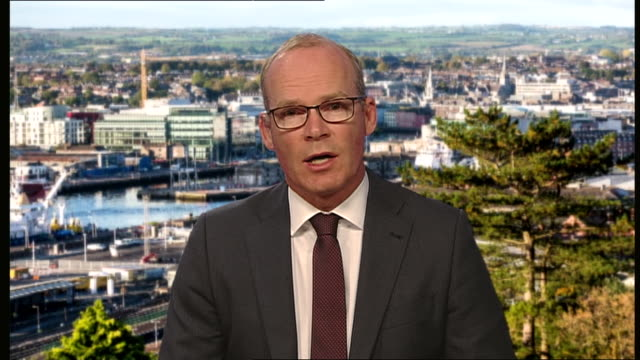 irish minister for foreign affairs simon coveney saying the uk's reputation as a trusted negotiator is being damaged in a very serious way due to... - talking politics stock videos & royalty-free footage