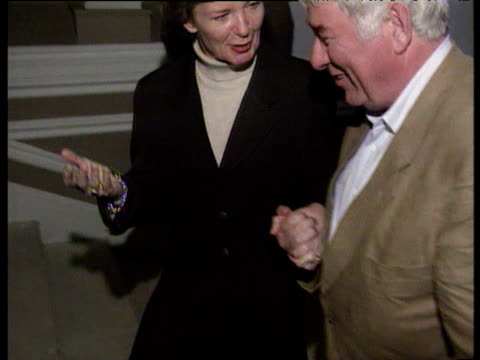 irish poet seamus heaney walking up staircase holding hands with president mary robinson on occasion of his winning nobel prize for literature 08 oct... - poet stock videos & royalty-free footage