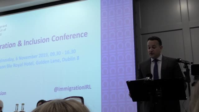 irish premier leo varadkar tells immigrant council of ireland conference that the direct provision system for people seeking asylum is imperfect but... - imperfection stock videos & royalty-free footage