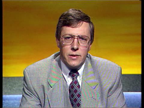 irish prime minister albert reynolds on a visit to londonderry northern ireland belfast london itn cms peter robinson mp intvwd sot for a very long... - dermot murnaghan stock-videos und b-roll-filmmaterial