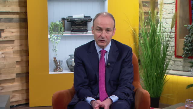 "irish prime minister michael martin saying it is better to have ""dialogue and harmony"" in discussions during brexit negotiations - harmony stock videos & royalty-free footage"
