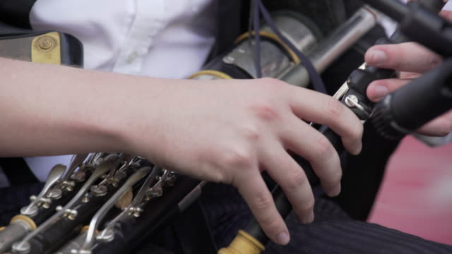 irish uilleann piper performing on stage close-up (4k/uhd) - ireland stock videos and b-roll footage