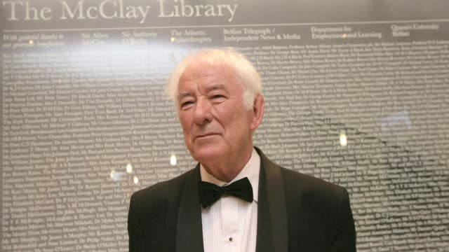 irish writer seamus heaney who won the 1995 nobel prize in literature has died at the age of 74 sources said friday. clean : nobel literature... - nobel prize in literature stock videos & royalty-free footage
