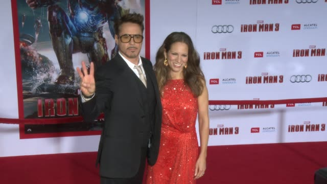 vídeos y material grabado en eventos de stock de clean iron man 3 world premiere hollywood ca united states 4/24/2013 - ropa ajustada