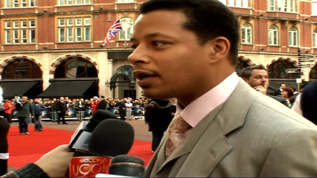 iron man film premiere arrivals and interviews terrence howard interview sot talks about red carpet interviews this is good part as long as questions... - terrence howard stock videos & royalty-free footage