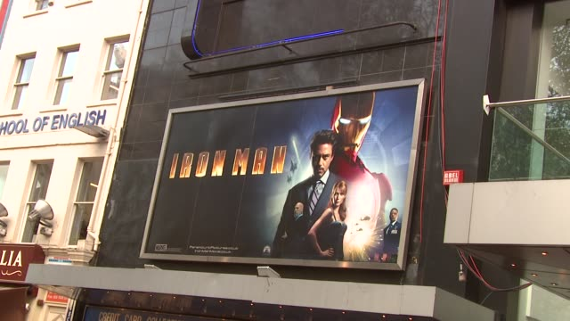 iron man london premiere at london . - 首映 個影片檔及 b 捲影像