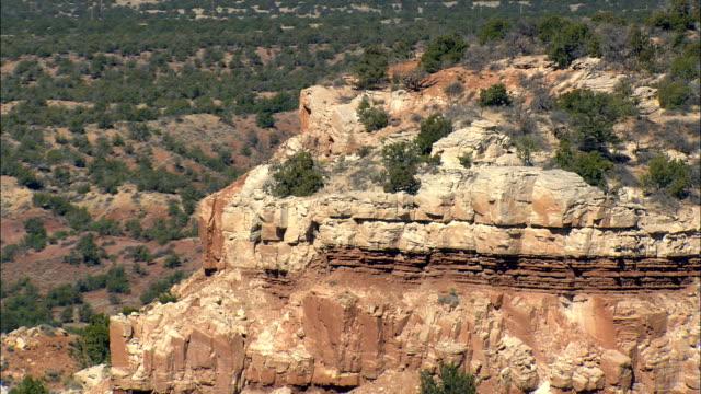 Iron Ore Colored Escarpment  - Aerial View - New Mexico,  Cibola County,  United States