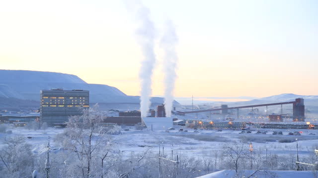 iron ore mine refinery factory working, kiruna sweden - fossil fuel stock videos and b-roll footage