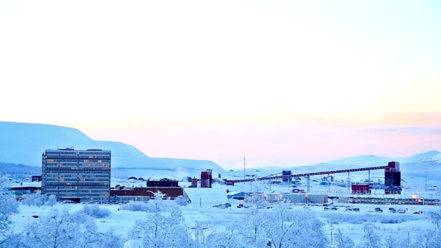 Iron Ore Mine Refinery Factory Working, Kiruna Sweden