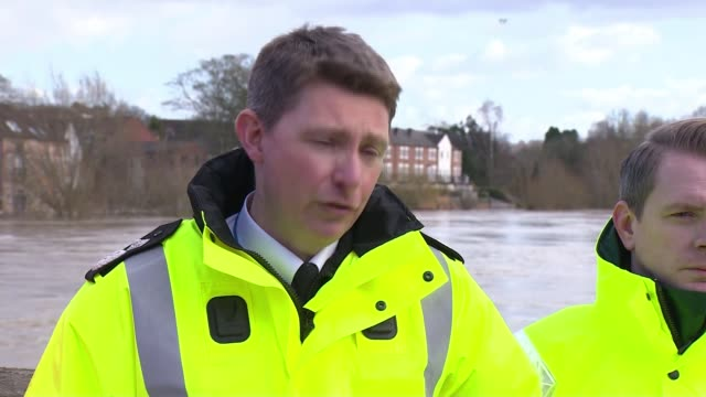 ironbridge and bewdley residents evacuated as flood defences breached uk severn valley gvs flooded river and town west mercia police press conference... - news not politics stock videos & royalty-free footage
